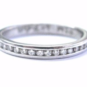 Platinum Round Cut Diamond 20-Stone Channel Settin